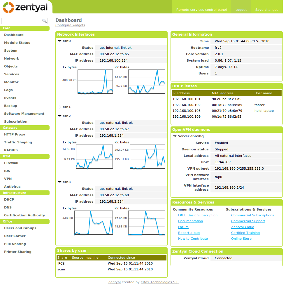 Zentyal Linux Small Business Server | Justin's IT Blog