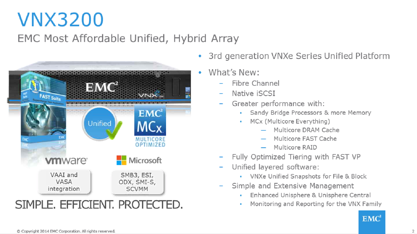 Whats new with the VNXe3200