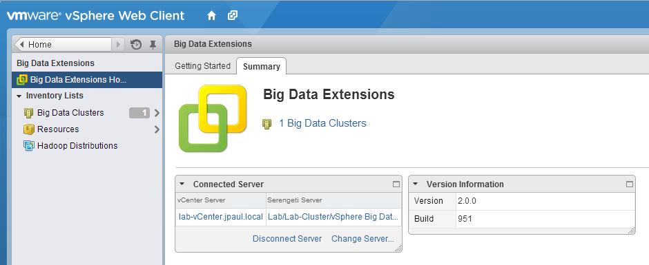 BDE's vSphere Web Client Interface
